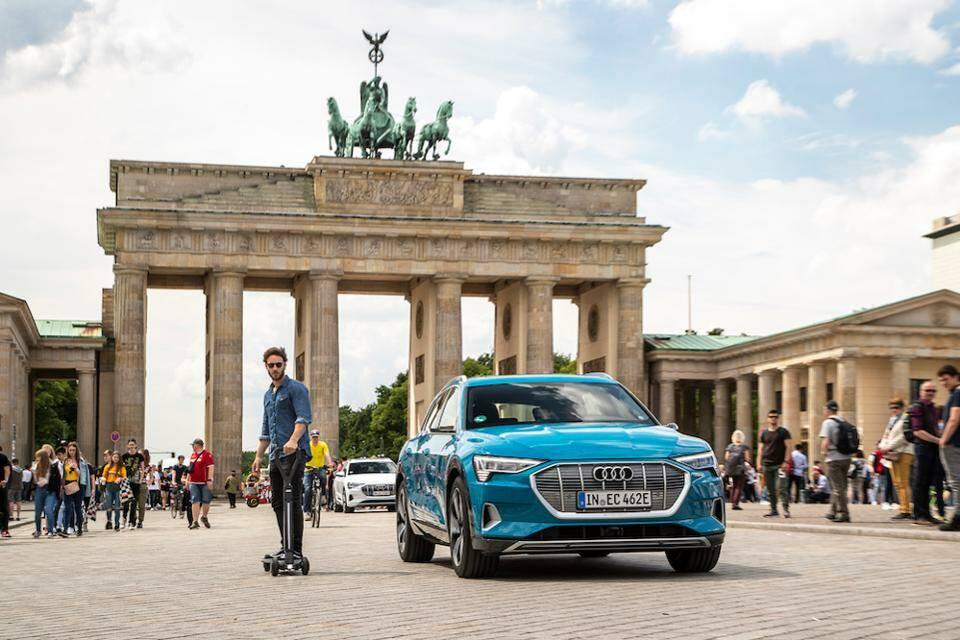 Презентация 2019 года компании Audi самокат