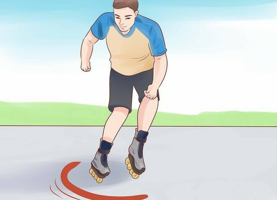 Как кататься на роликах задом наперед