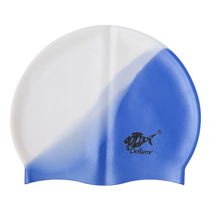 dolvor Шапочка для плавания Dolvor MC, бело-синий 3374351