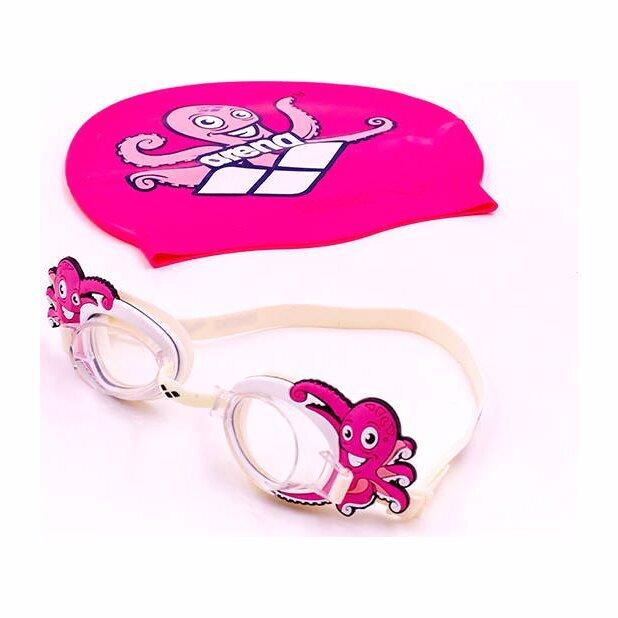 zelart Очки и шапочка детские Zelart ARENA WORLD AR-92295-20, прозрачный-розовый 2384821