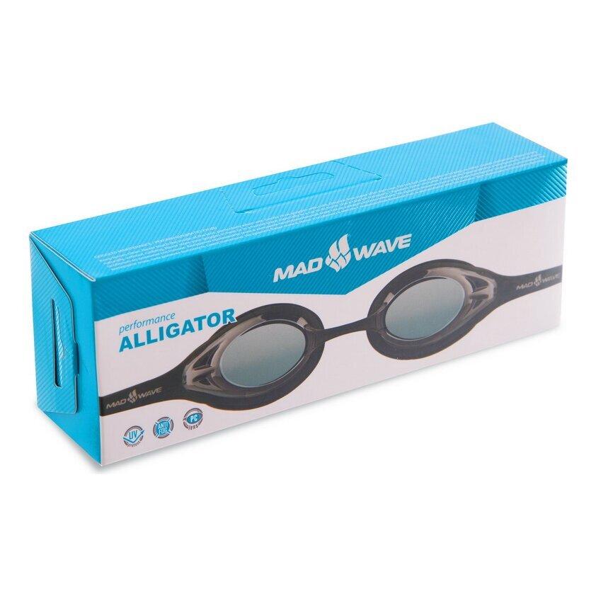madwave Очки для плавания MadWave ALLIGATOR M042713, черные 8338311