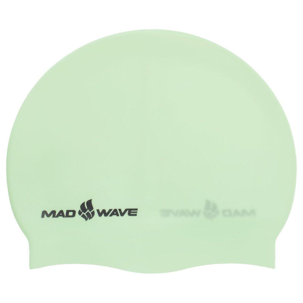 madwave Шапочка для плавания MadWave PASTEL M053504, зеленая 8397081